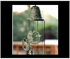 Moon and Star Windchime - Brass