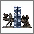 Explore our bookends catalog for decorative and architectural bookends such as the fleur de lis bookends, rooster bookends and animal bookends like cat bookends, dog bookends, horse bookends; also visit for corporate gifts for the executive person.