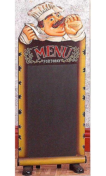 Tall Standing Cook with Chalkboard