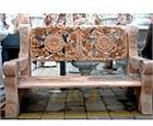 Rose and Medallion Marble Bench