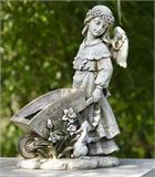 Angel Girl with Cart Planter