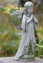 Celtic Angel Girl Planter