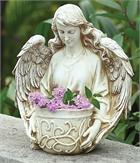 Angel Holding Little Garden Pot