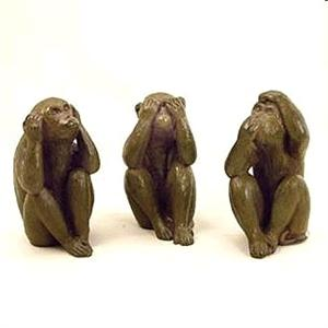 Three Wise Monkey Figurines