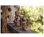 Garden Squirrel Figurines Set