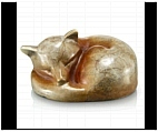 Baby Sleepy Fox Figurine