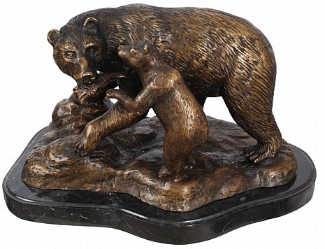 Tabletop Mama and Baby Bear - Bronze