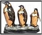 Family of Penguins on a Base - Bronze