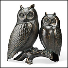 Mr. and Mrs Owl Statue