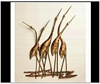 Cranes in Chorus Plaques Set of 2