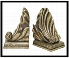 Scalloped Shell Bookends