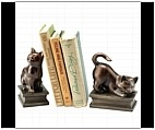 Kitty Cat Bookends - Resin