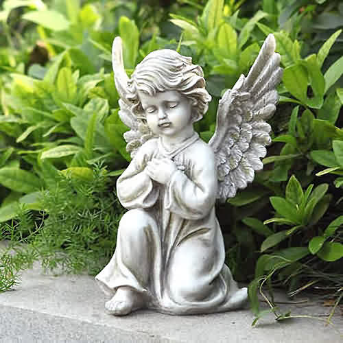 Kneeling praying angel sculpture and statue for Praying angel plant