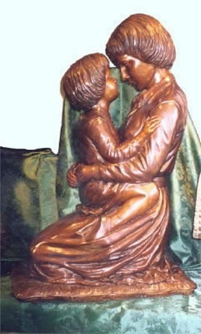 A Mother's Love is Divine Bronze Sculpture