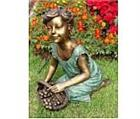 Delicate Flower Girl Sculpture
