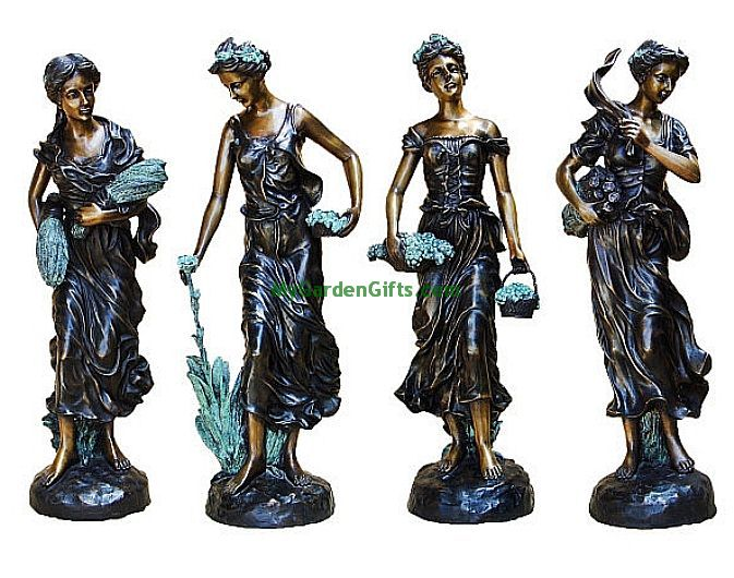 Four Seasons Tabletop Sculptures