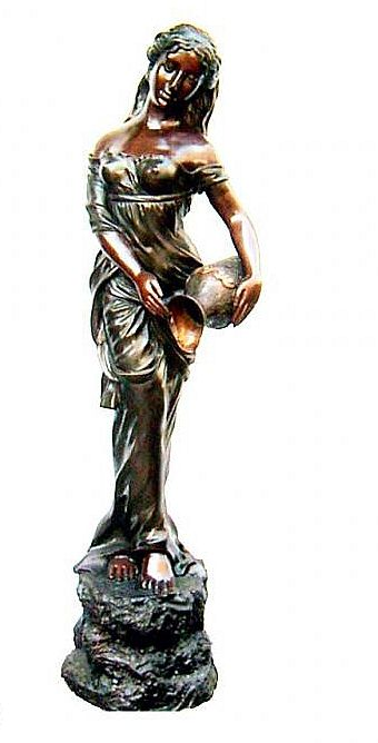Sweet Woman Holding Urn Sculpture I