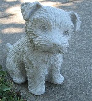 Curious Yorkie Statue