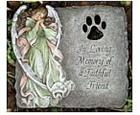 Paw Print Angel Stepping Stone