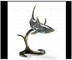 Foraging Shark Sculpture