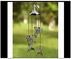 Morning Glory and Hummingbird Wind Chime
